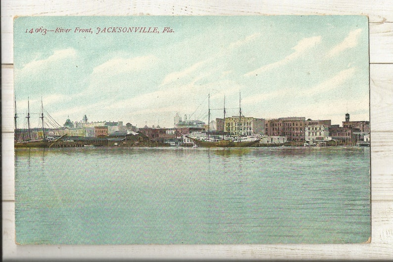 Duval County Early 1900s Divided Back DB Postcard- View of St Jacksonville John/'s River Front Florida FL ~ Free Shipping