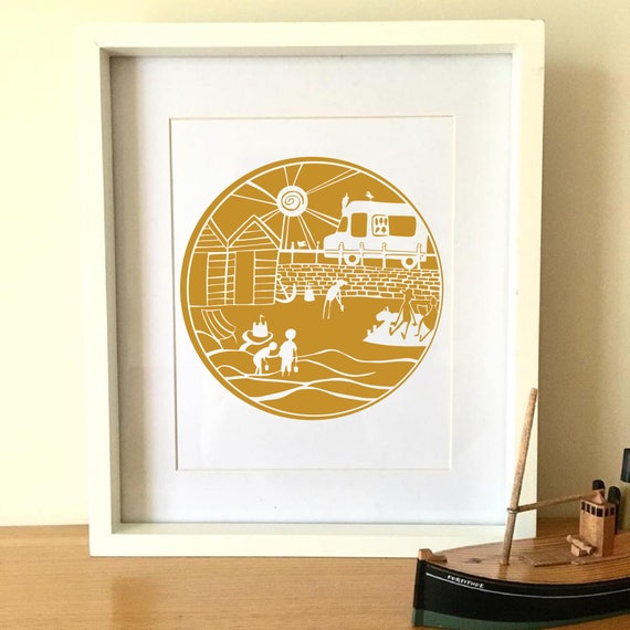 Personal Licence O I Do Like To Be Beside The Seaside DIY Papercut Template