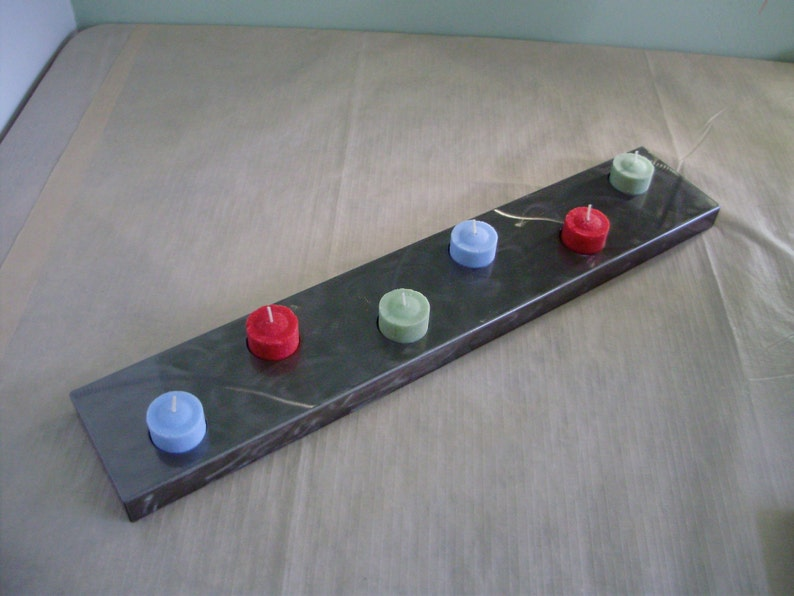 These Holders Really Standout-Free Shipping- just in time for the Holidays Tea Light Candle Holder Made in Steel with 6 Holes for candles