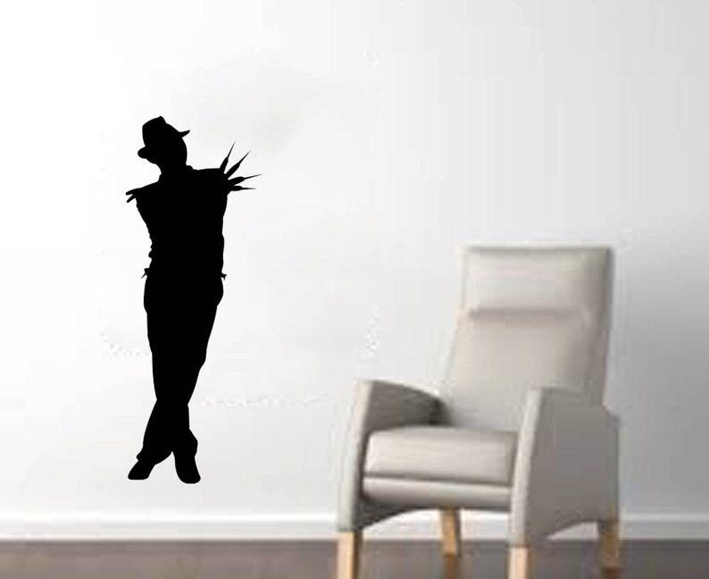 13w x 35h Freddy from Nightmare on Elm Street Full Body Silhouette Halloween Wall Decal