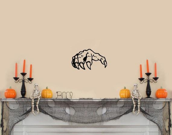 Black 20x 30 Scary Gargoyle in a Window large Halloween Wall Decal