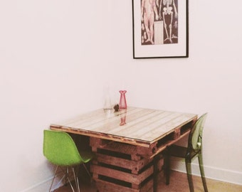 Dining Table Made Out Of Pallets