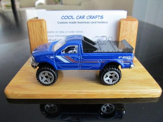 67a1f8ef294d1 Ford F 150 business card holder oak wood desk sales office