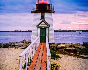 Brant Point Lighthouse Digital Download - screen saver - computer wallpaper Stock Photography from William Britten