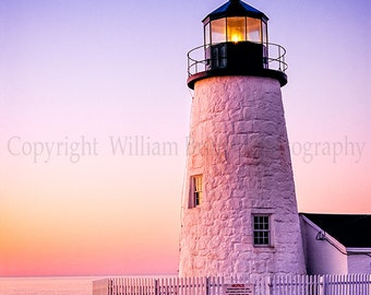 Maine Lighthouse Digital Download Stock Photography - screen saver - computer wallpaper from William Britten