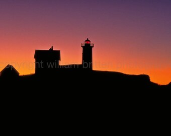 Cape Neddick Lighthouse Digital Download Stock Photography - screen saver - computer wallpaper from William Britten