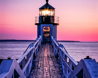 Marshall Point Lighthouse at Sunset - Fine Art Photography - William Britten