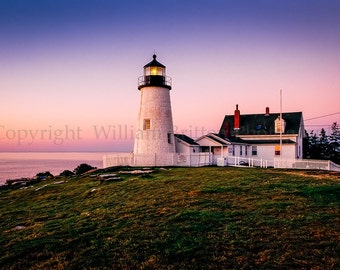 Pemaquid Point Lighthouse Digital Download Stock Photography - screen saver - computer wallpaper from William Britten
