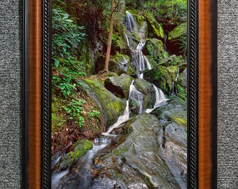 """Framed Smoky Mountains Waterfall Print Fine Art Photo from William Britten """"1000 Drips"""""""