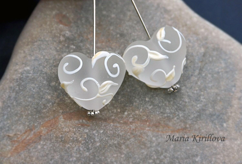 Handmade,Murano Glass Small Beads 2pcs,Lampwork