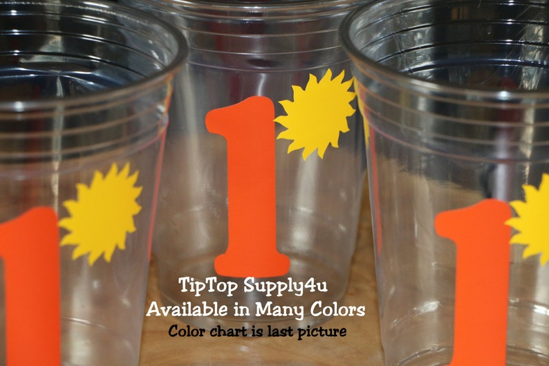 24+ You are my Sunshine /& Age clear party cups or 20+ vinyl decals girl party B-152 C-214NO picnic Kids party,Birthday,cup,girl birthday