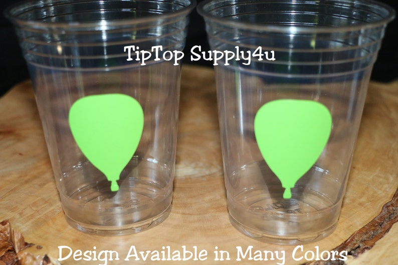 Sprinkle Party Baby Shower The places you/'ll go C-262 birthday party 24+ Hot Air Balloon clear disposable cup cups or 20+ vinyl decals