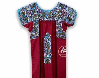 Mexican Handmade Embroidery Dress model San Antonio