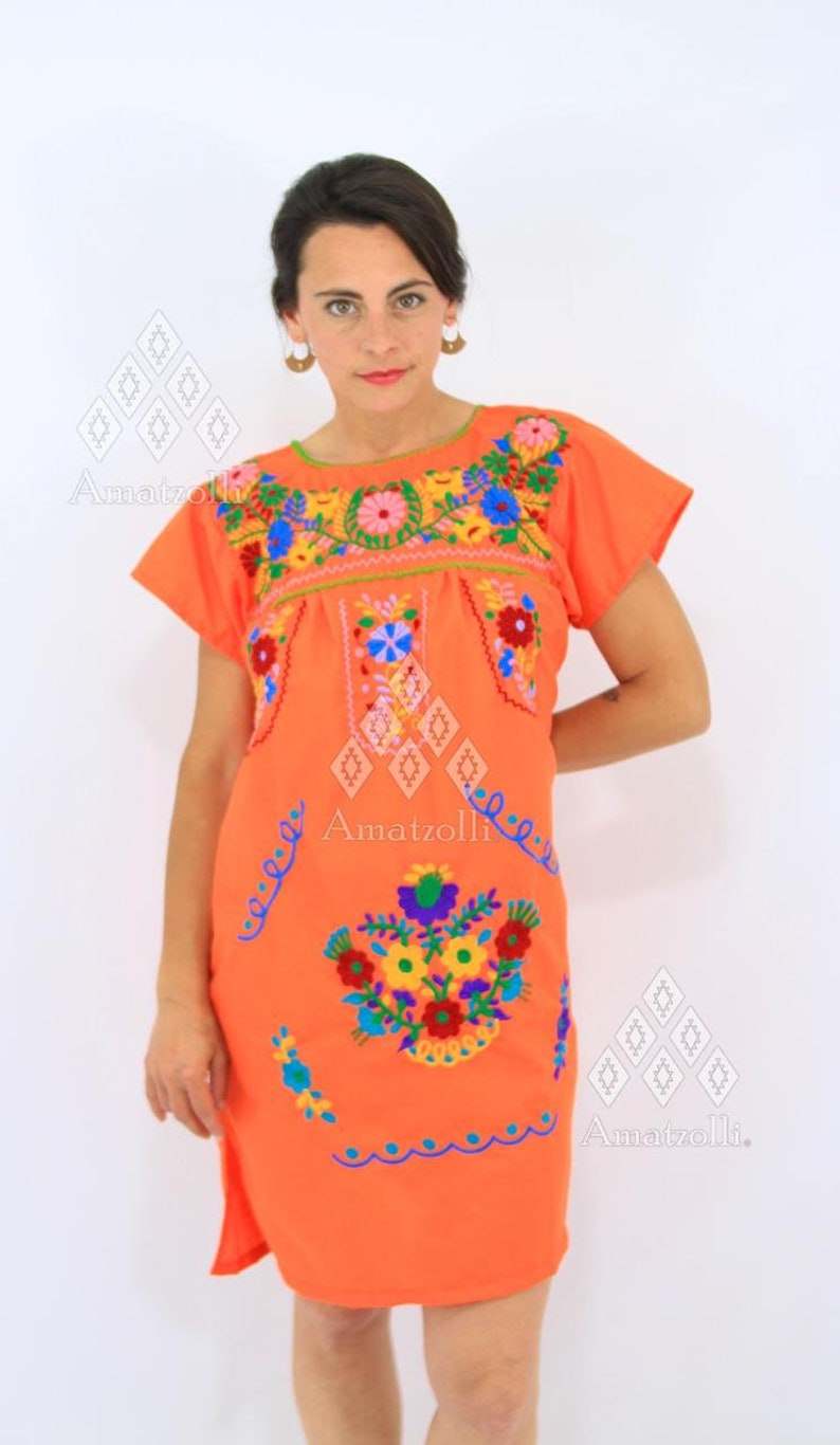 Typical Mexican Dress by Popelina Embroidered