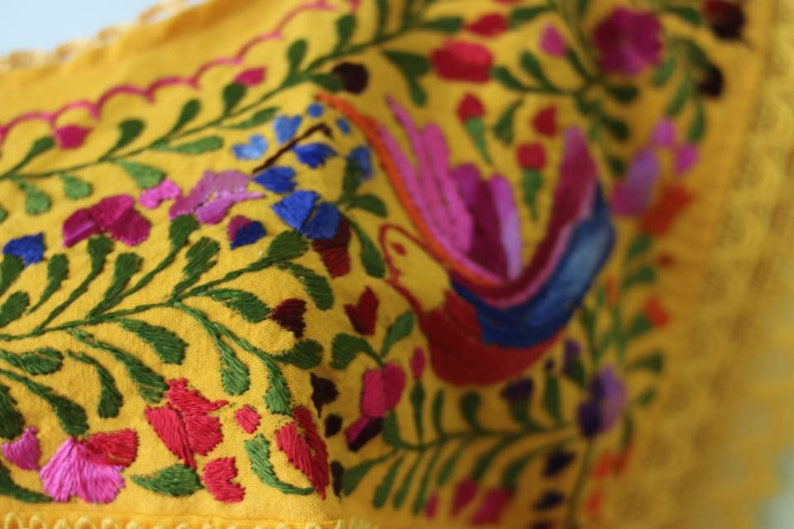 Mexican Handmade Blouse by Manta Bordada model Paloma