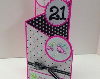 Happy 21st Birthday Tri Fold Card