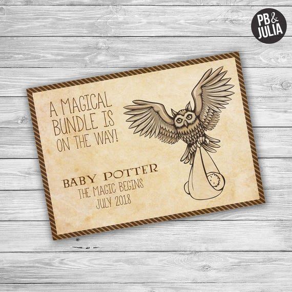 Harry Potter Pregnancy Announcement Hp Baby Announcement