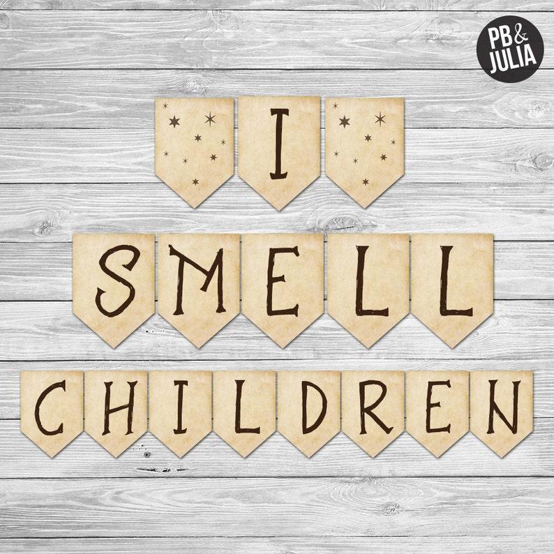 Hocus Pocus Banner / I Smell Children Banner / Hocus Pocus image 0