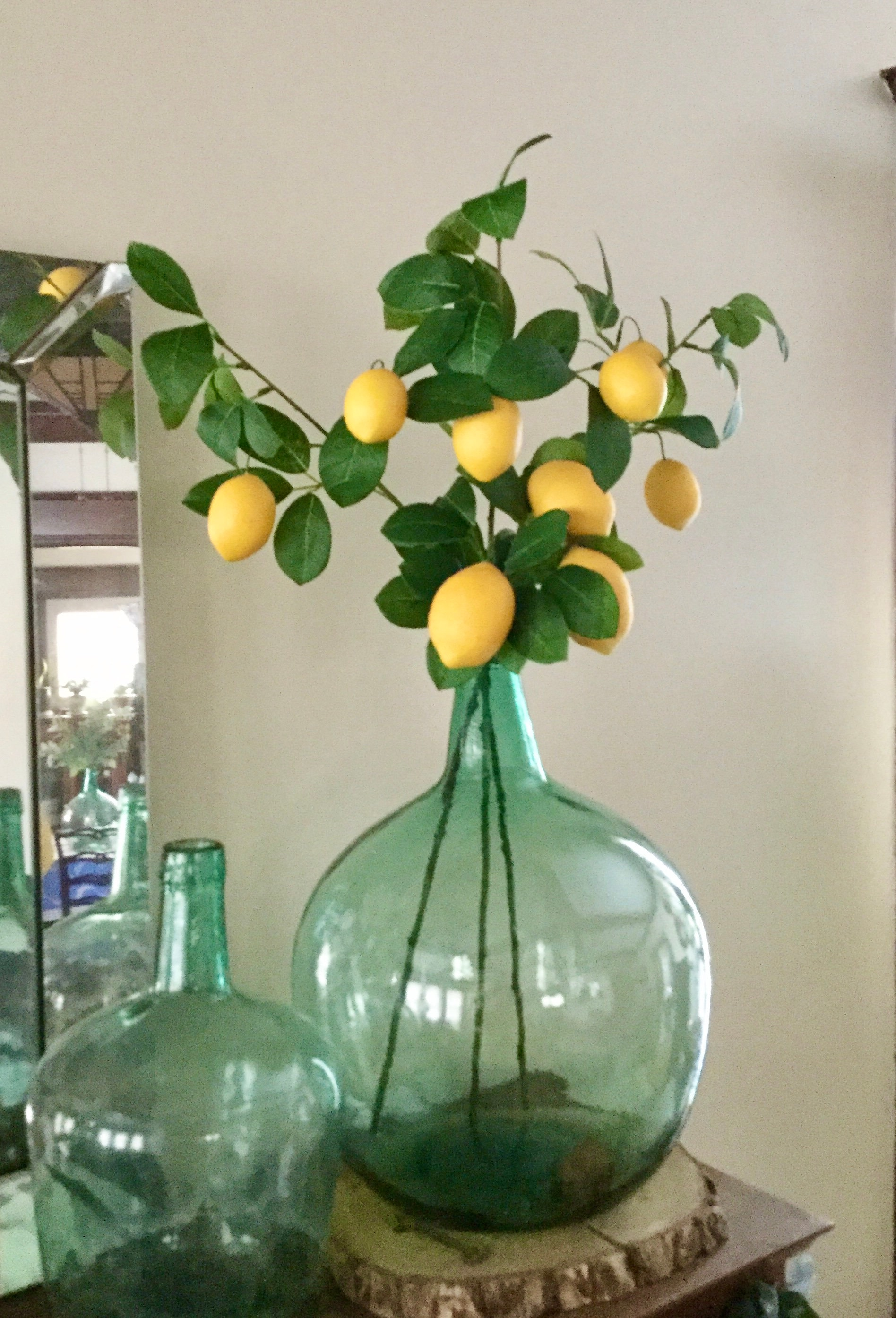 Artificial Lemon Stem Lemon Branch Lemon Tree Branch Yellow Kitchen Decor Yellow Wedding Farmhouse Fruit Decor