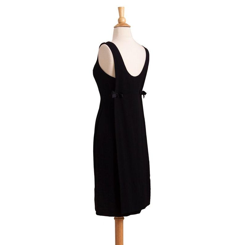 1ccb74f7d55 1950s Vintage Designer Black Cocktail Dress 50s LBD Evening