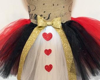 Adult Heart Queen Tutu Skirt Adult Queen Of Hearts Costume