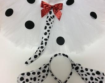 dalmatian costume, dalmation costume, dog costume, dalmatian tutu, dalmatian halloween costume, black white dog costume, dog tutu