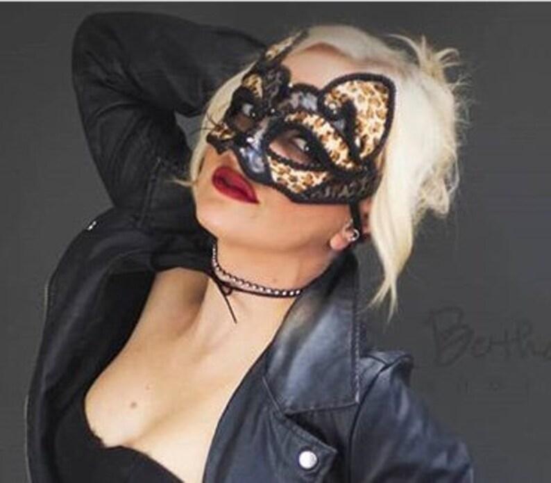 Maschera di leopardo gatto maschera maschera mascherina del  8608b1a65baa