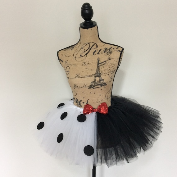 black white dog costume dog tutu Cruella Deville tutu Dalmatian tutu Dalmatian skirt cruella Deville skirt