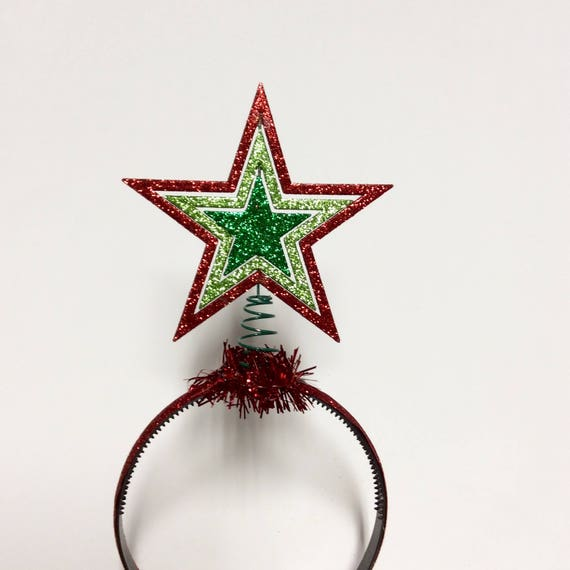 Christmas star headband christmas tree topper headband  e296c3c72db