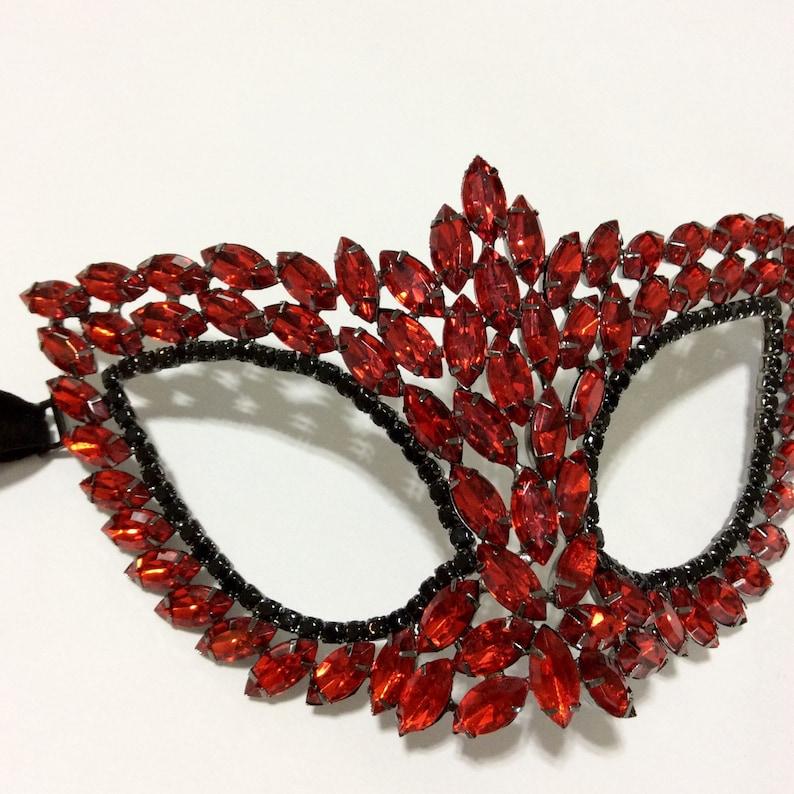 jeweled mask Jeweled mask masquerade mask mardi gras mask gatsby mask rhinestone owl mask
