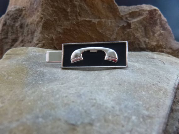 1990s Motorola Car Telephone Tie Clasp | Vintage Car Phone Tie Clip | Collectible Advertising Telephone Tie Clasp