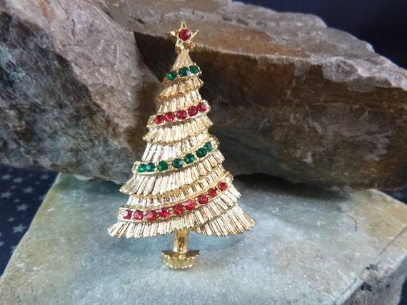 BJ Christmas Garland Tree Vintage Pin Book Piece circa l970-80s Beatrix