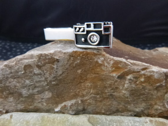 Swank Camera Vintage Tie Clip | When Your Phone Wasn't Your Camera Tie Clasp | Photographer Tie Clip