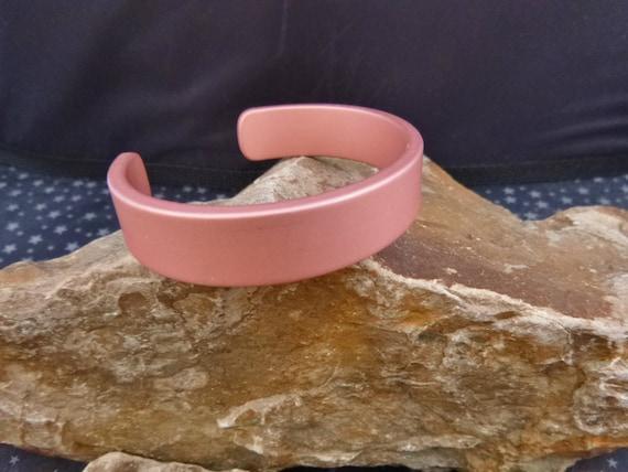 Vintage Titanium Cuff Bracelet | 1980s Dusty Pink Titanium Bracelet