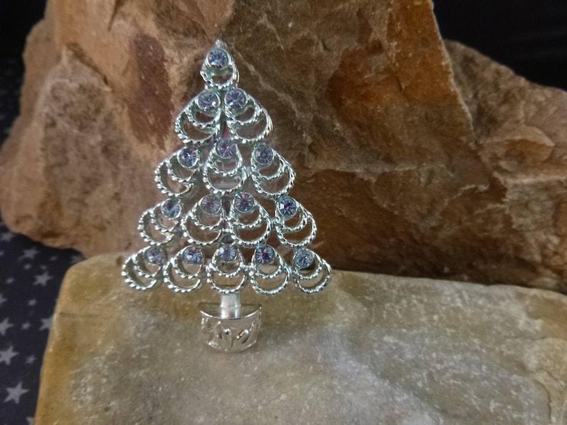 373c332c1c9 Silver Blue BJ Beatrix Timeless Christmas Tree Brooch Blue   Etsy