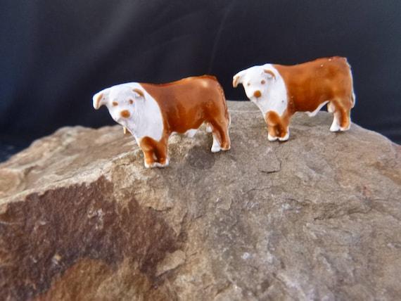 Shorthorn Steer Vintage Mid Century Cuff Links | Cattle Rancher Cufflinks