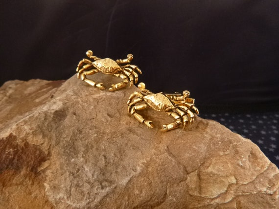 Jolle Vintage Crab Cuff Links | Ocean or Beach Lover Large CuffLinks | June-July Cancer Zodiac Sign