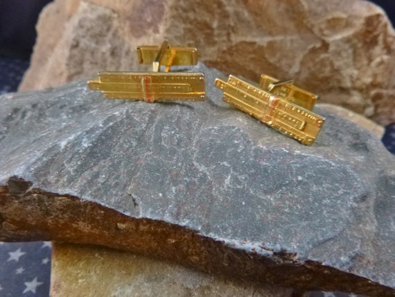 Mid Century Slide Rule Rare Find Cuff Links | Techie Software Developer Engineer Vintage Cufflinks