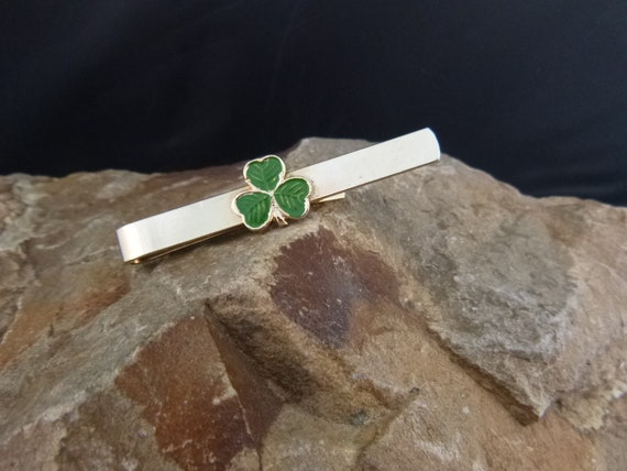 Shamrock Vintage Tie Clip | St. Patrick's Day Irish Tie Clasp