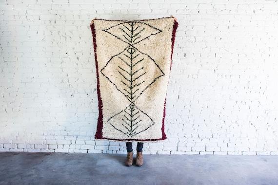 Vintage Style Moroccan Handmade Shag Rug