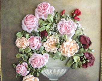 silk ribbon embroidery 'Roses '