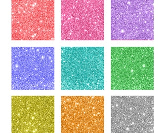 Glitter Digital Collage Sheet - 4x6 - 1 inch Squares - Magnet - Pendant Images - One inch Squares - Instant Download