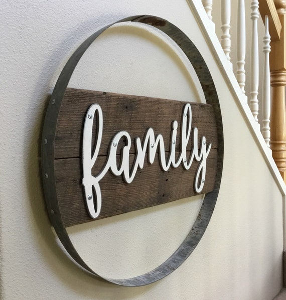 Family Sign Wood Signs Wine Gifts