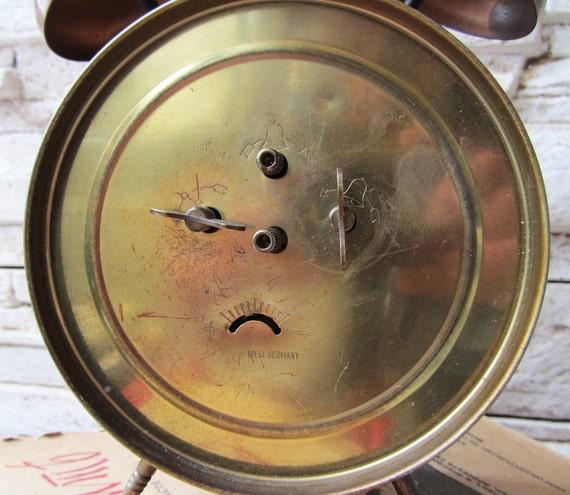 Très Rare grand réveil Vintage Europa travail ouest allemande réveil horloge rétro Antique radio réveil vieille collection horloge mécanique