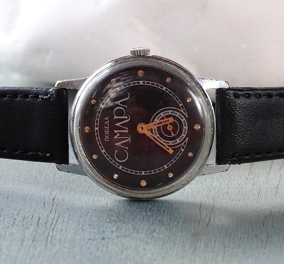 Rare Russian watch Pobeda Samara,Vintage Men's wat