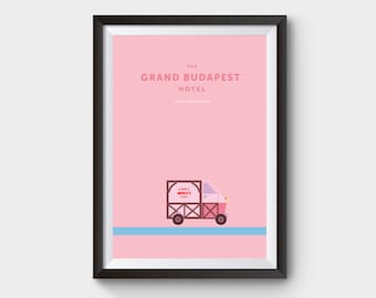 The Grand Budapest Hotel - movie poster, art, print, film, lobby boy, minimal poster, budapest hotel, mendls print, minimalist movie poster