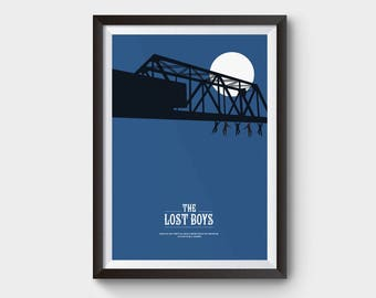 The Lost Boys - A3 movie poster, film poster, minimalist movie poster, lost boys poster, film poster, vampire poster, minimal print
