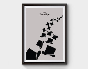 The Prestige Poster - A3/A4 movie poster, minimalist movie poster, prestige, magic, magician, the prestige, film poster, top hat