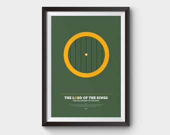 """The Fellowship of The Ring - Lord of The Rings Poster: 12x16"""" (A3) LOTR print, poster, movie poster, gollum, hobbit, minimalist movie poster"""