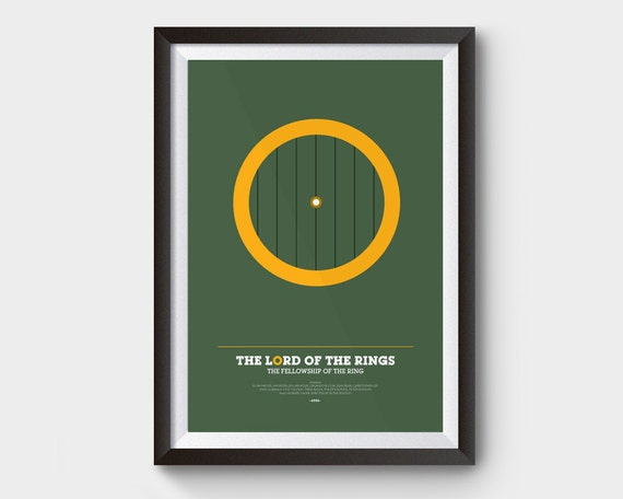 THE LORD OF THE RINGS FELLOWSHIP MOVIE POSTER FILM A4 A3 ART PRINT CINEMA